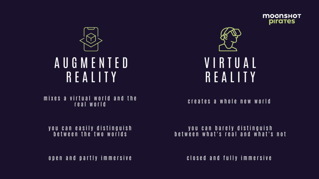 difference between virtual and augmented reality